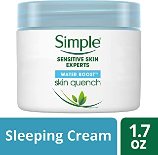 Simple Water Boost Skin Quench, Sleeping Cream, 1.7 Fl Oz (Pack of 1)