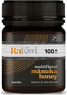 Sponsored Ad - RaKiwi Raw Multifloral Mānuka Honey Certified MGO 100+ Genuine New Zealand Non-GMO Honey (8.82oz/250g)