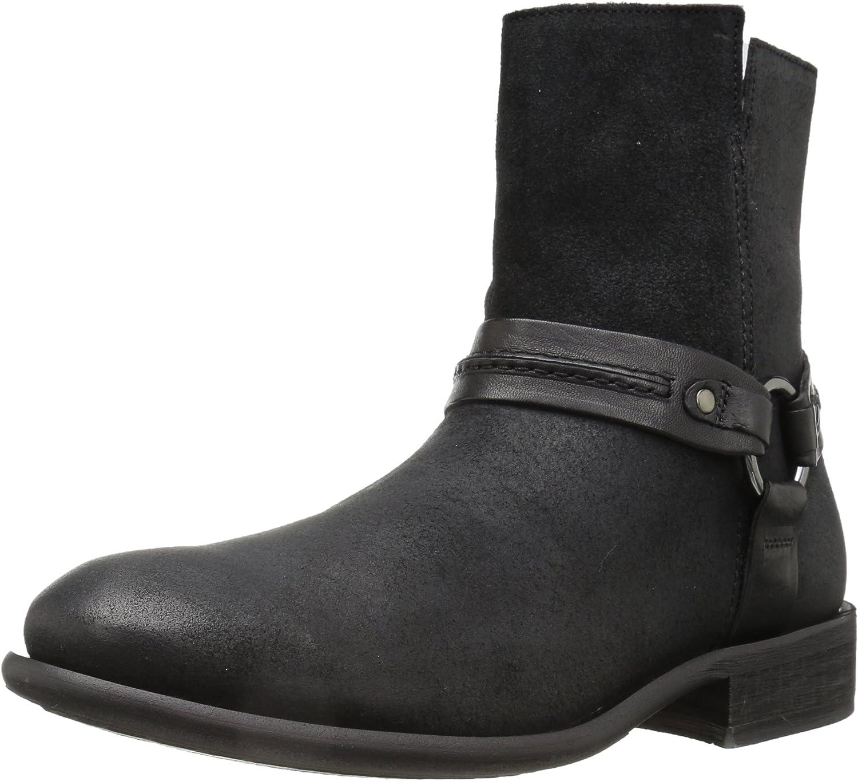 ALDO Men's Asuwen Harness Boot, Black Leather, 7.5 D US