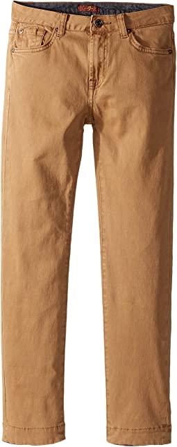 7 For All Mankind Kids - Stretch Twill Slimmy Pants in Khaki (Big Kids)