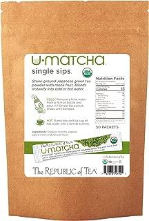 The Republic of Tea Organic U-Matcha Single Sips, 50 Single Servings Of Premium Instant Matcha