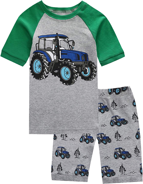 Pajamas Set for Boys Kids Short Pjs Baby Summer Cotton Sleepwears