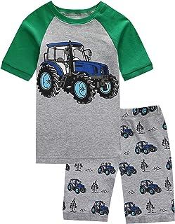 Pajamas Set for Boys Kids Short Pjs Baby Summer Cotton...