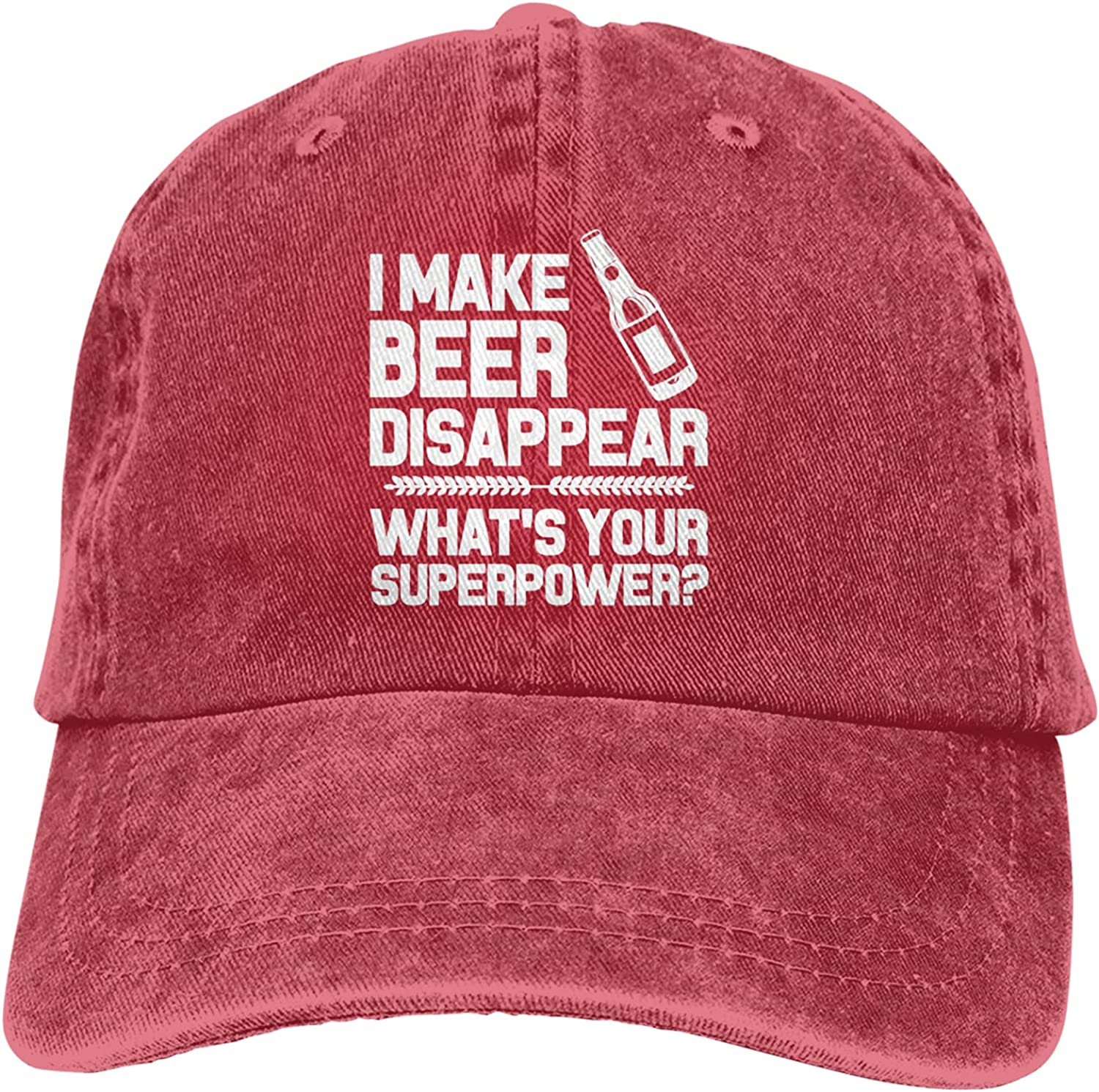 I Make Beer Disappear shipfree What's Your Women's Mo Superpower Cap Man Fashionable