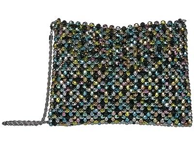 Loeffler Randall Mia Beaded Pouch (Rainbow Metallic) Handbags