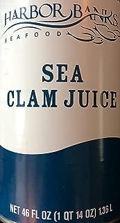Harbor Banks Sea Clam Juice 46 oz Can - Seafood Clam Juice
