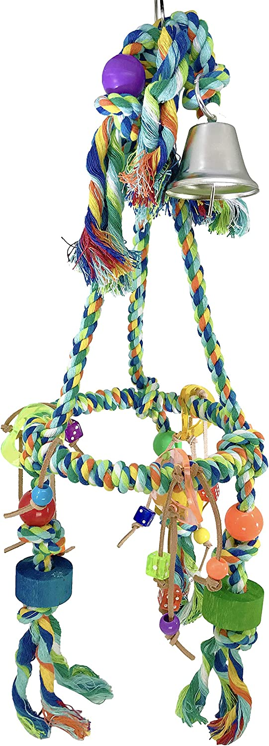 Bonka Bird Toys 1013 Media Pyramid Bird Toyot Parrot Cage Perch Cages Cocktiel Parakeet Conure Parakeets Parrots Macaw Swing Playground Perches Swings