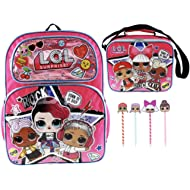 L.O.L. Surprise! Backpack and Insulated Lunch Tote PLUS 4 Pack of LOL Surprise Pens