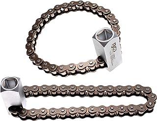 camiones veh/ículos YSHtanj llave de filtro de aceite para mantenimiento de coches llave Allen de metal de doble cadena tipo filtro de aceite llave de vaso