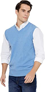State Cashmere Men's Classic Sleeveless Sweater Vest 100% Pure Cashmere V-Neck Style Pullover