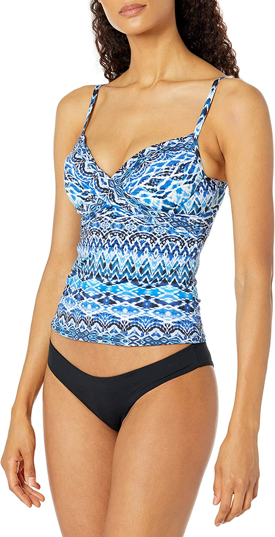 La Blanca Women's Standard Wrap Underwire Tankini Swimsuit Top