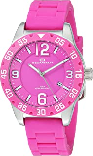 Oceanaut Women's Aqua One Stainless Steel Quartz Watch with Silicone Strap, Pink, 18 (Model: OC2812)