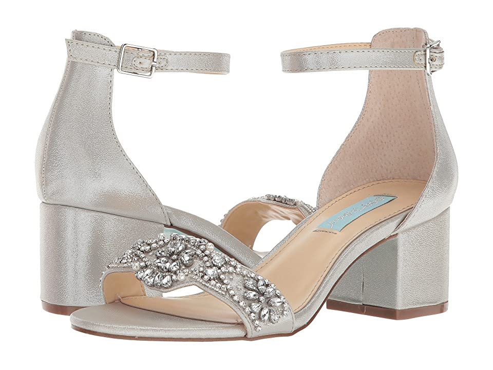 Blue by Betsey Johnson Mel (Silver Satin 1) High Heels