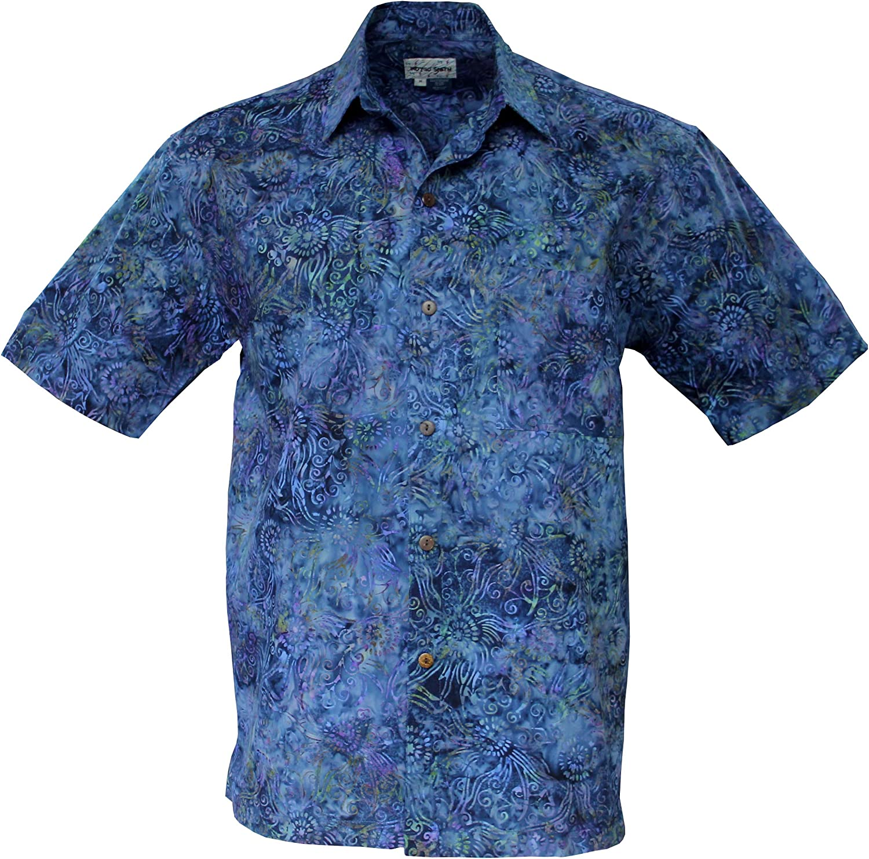 Foxfire Indygo Smith Mens Batik Print Cotton Shirt