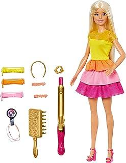 comprar comparacion Barbie Crea sus ondas, Muñeca rubia con accesorios para peinar, regalo para niñas y niños 3-9 años (Mattel GBK24)