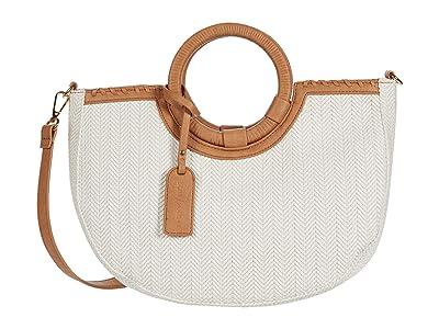 SOLE / SOCIETY Deona Satchel (Camel Combo) Handbags