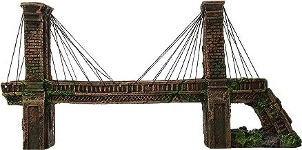 Penn Plax Brooklyn Bridge Aquarium Ornament - 18L x 4.5W x 9H in.
