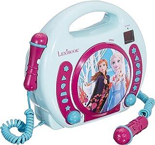 Lexibook Disney Frozen La Reine des Neiges Elsa Lecteur CD pour enfant avec 2 microphones..