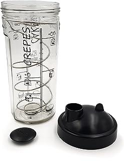 COOKUT - Shaker Miam - Réalisez Une pâte à crêpes ou Pancakes Parfaite en Moins de 2 Min - Pratique, sans Robot, sans Bala...