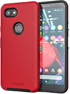 Pixel 3a Case, Crave Dual Guard Protection Series Case for Google Pixel 3a - Red