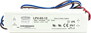 Mean Well USA LPV-60-12 Power Supply 5PACK; AC-DC; 12V@5A; 100-264VIn; Sealed; Panel Mount; LED Driver; LPV Series