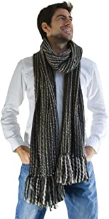 Tumia LAC - Striped Thick, Extra Long Luxurious Scarf - Handmade and Very Warm - Unisex