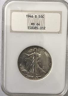 1946 S Silver Walking Liberty Half Dollar MS-64 NGC