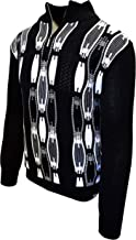 STACY ADAMS Men's Sweater, Vertical Neo Chain Front Design