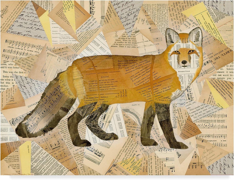 Trademark Fine Art Red Fox Collage I by Nikki Galapon, 14x19