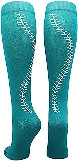 MadSportsStuff Softball Socks with Stitches Over The Calf...