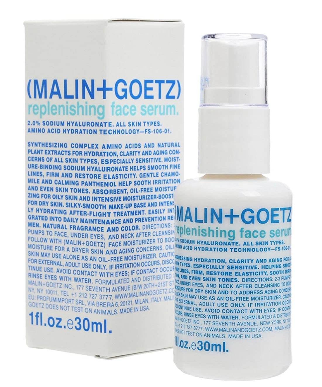 優越なぜじゃないマリン+ゲッツ補充顔の血清 x2 - MALIN+GOETZ Replenishing Face Serum (Pack of 2) [並行輸入品]