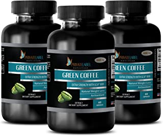Fat Burning Supplements for Belly - Green Coffee Extract - Extra Strength with GCA 800 - Green Coffee Bean Extract Non GMO...
