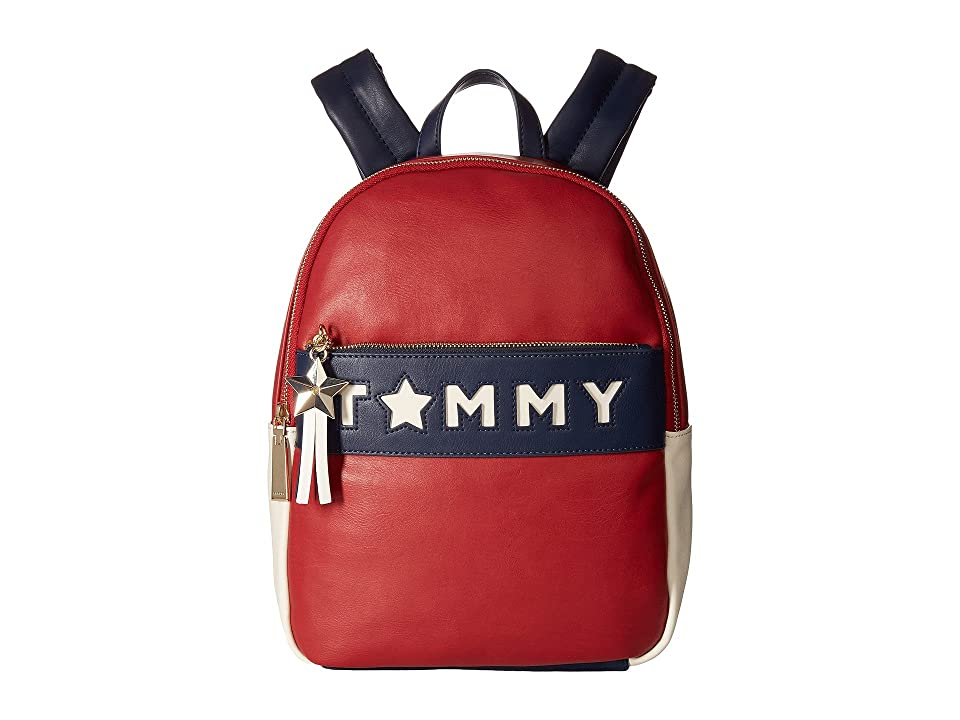 Tommy Hilfiger Logo Backpack (Tommy Red/Multi) Backpack Bags