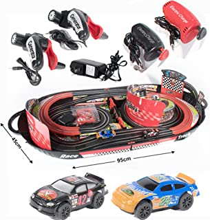 Cars Slot Track Racing Electric Toys Box for Kids Car Track Set System with 2 Handle, Track, Cars Foldable & Easy to Carry...