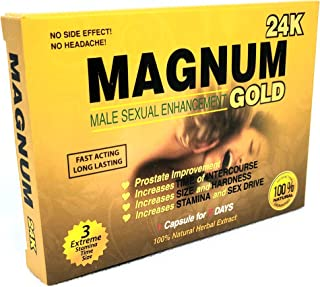 Magnum Gold 24 K Male Performance, Energy, Enhancement, and Endurance (10 Pills)