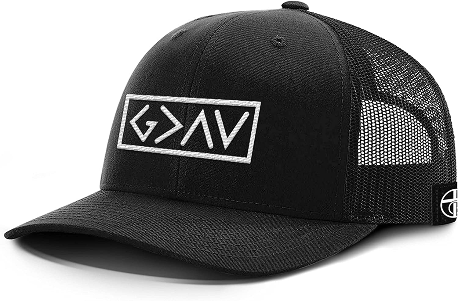 One True God God is Greater Than Highs and Lows Back Mesh Hat Christian Faith Baseball Cap