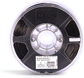 Goolsky eSUN ABS+ 1.75mm ABS 3D Printer Filament 1kg Spool (2.2lbs) Consumables Material Refills Black