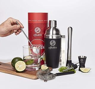 effuZen Cocktail Shaker Set - Liquor, Alcohol, and...