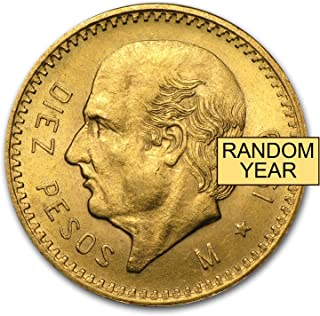 1921 MX - 1947 Mexico Gold 10 Pesos AGW .2411 (Random Year) Gold Very Good