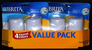 Brita Robinet filtres de rechange, Blanc, 4-pack