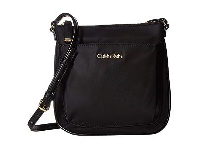 Calvin Klein Abby Nylon Crossbody (Black/Black) Cross Body Handbags