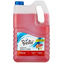 Amazon Brand – Presto! Disinfectant Surface/Floor Cleaner – 5 L (Floral), Pack of 1