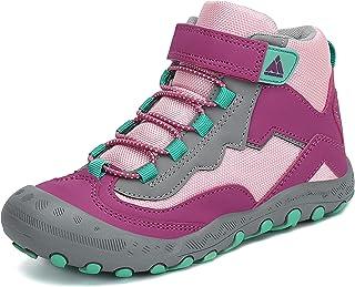 Mishansha Niños Zapatillas de Senderismo Niñas Resistentes Botas de Trekking Montaña Zapatillas