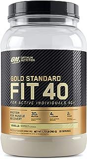 Optimum Nutrition Gold Standard FIT 40 Protein Powder, Vanilla, 1.72 Pounds