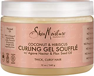 SheaMoisture Coconut & Hibiscus Curling Gel Souffle Styler, 12 Ounce