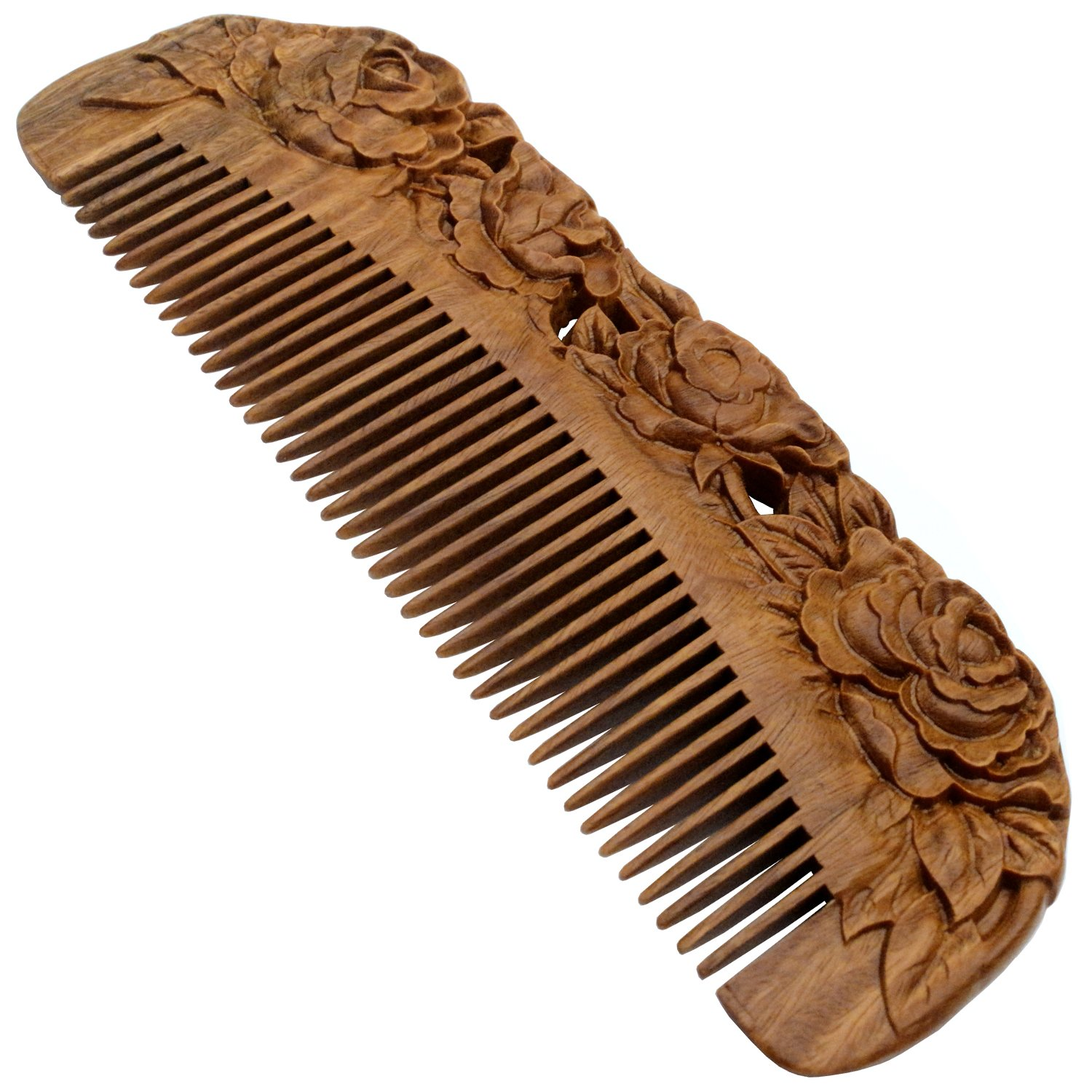 Long Beach Mall National products YOY Handmade Carved Natural Sandalwood Hair N Anti-static - Comb