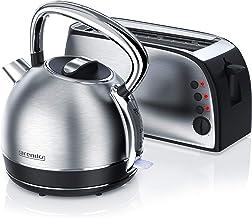 Arendo 722303558722 mi Arendo Bouilloire 2200 W 1,7 l Réglage de la température Plus Grille-pain à fente longue 7 niveaux ...