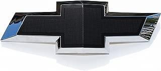 Black & Chrome Textured Bowtie Front Grille Emblem Compatible With 2010-2015 Chevrolet Camaro