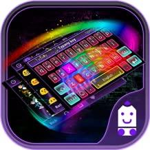 Rainbow Neon Theme&Emoji Keyboard