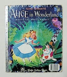 【不思議の国のアリス WALT DISNEY'S ALICE IN WONDERLAND MEETS THE WHITE RABBIT】 洋書絵本(古本) リトル・ゴールデン・ブック ディズニー